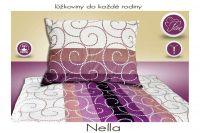 Farebné bavlnené posteľné obliečky Nella