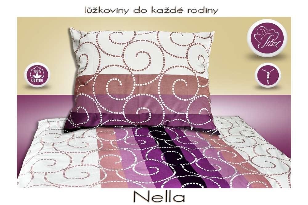 Obojstranné bavlnené farebné posteľné prádlo Fitex