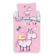 Pekné detské obliečky s prasiatkom Peppa Pig | 1x 140/200, 1x 90/70