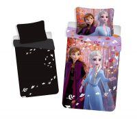 Bavlnené obliečky Frozen, Ľadové kráľovstvo sa svietiacim efektom | 1x 140/200, 1x 90/70