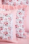 Poťah prešívaný so vzorem růže ladené do růžovej farby | Poťah prešívaný bavlnený, Poťah prešívaný bavlnený s krajkou, Poťah prešívaný krepový , Poťah prešívaný krepový s krajkou