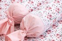 Povlak valček so vzorem růže | Poťah na valček bavlnený, Poťah na valček bavlnený s krajkou, Poťah na valček krepový, Poťah na valček krepový s krajkou