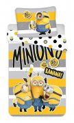 Bavlnené obliečky pre deti Mimoni 2 Banana   1x 140/200, 1x 90/70