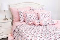 Flanelové posteľné obliečky ROSE / UNI pink