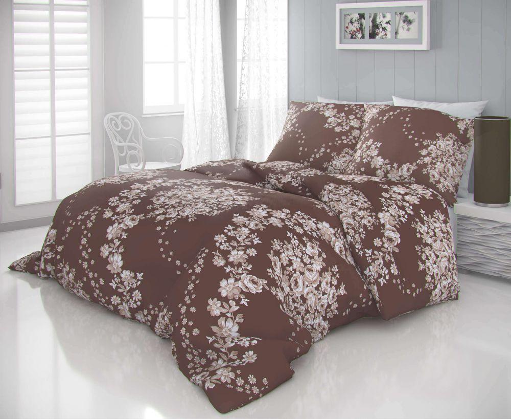 Luxusné a moderné satenové obliečky s motívom kvetin v romantickom štýle. Kvalitex