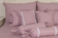 Krepové posteľné oblečky RUŽOVÝ DROBNÝ PRÚŽOK