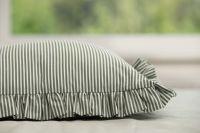 Krepové posteľné prádlo so vzorom průžku olivovej farby