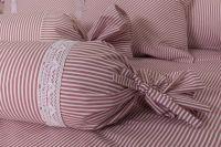 Poťah valček ružový drobny průžok  | Poťah na valček bavlnený, Poťah na valček bavlnený s krajkou, Poťah na valček krepový, Poťah na valček krepový s krajkou