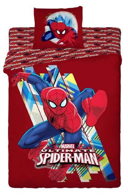 Kvalitné detské obliečky Spidermann na červenom podklade Jerry Fabrics