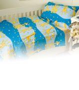 Krepové obliečky žirafa modrá Dadka