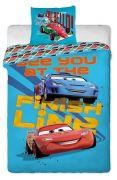Detské bavlnené obliečky Cars 2013 modré