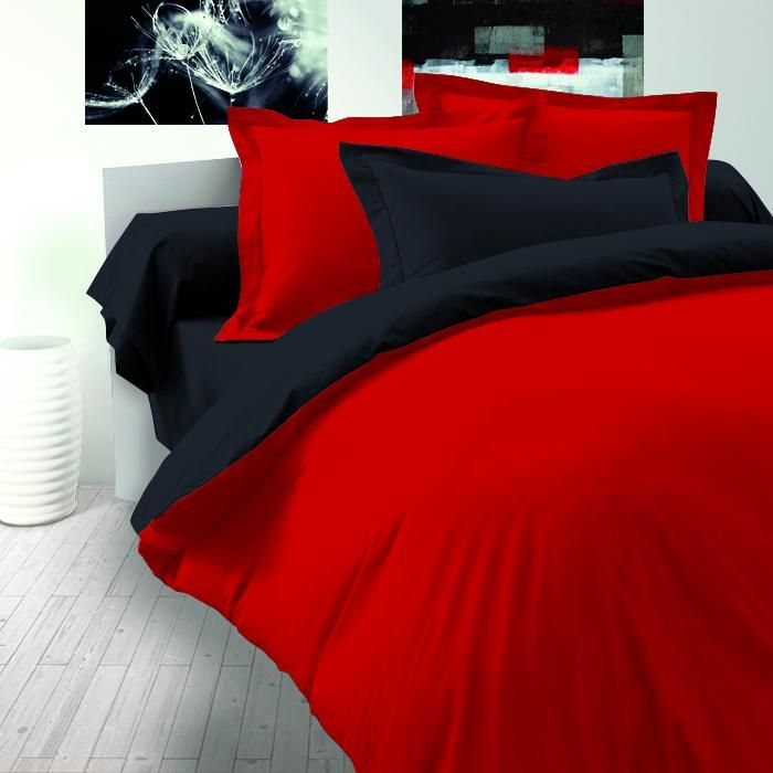 Obliečky saténové červeno čierne pre náročné Kvalitex