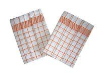 Utierky Negativ biela/oranžová - 3 ks