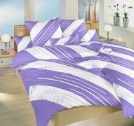 Bavlnené obliečky fialové, biele Globus Dadka