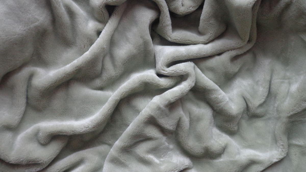 Mikroflanelová plachta šedozelená 90x200,180x200