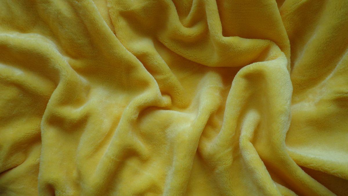 Mikroflanelová plachta žltá