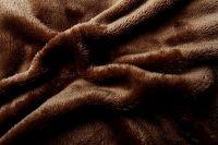 Plachta mikroflanel - tmavo hnedá