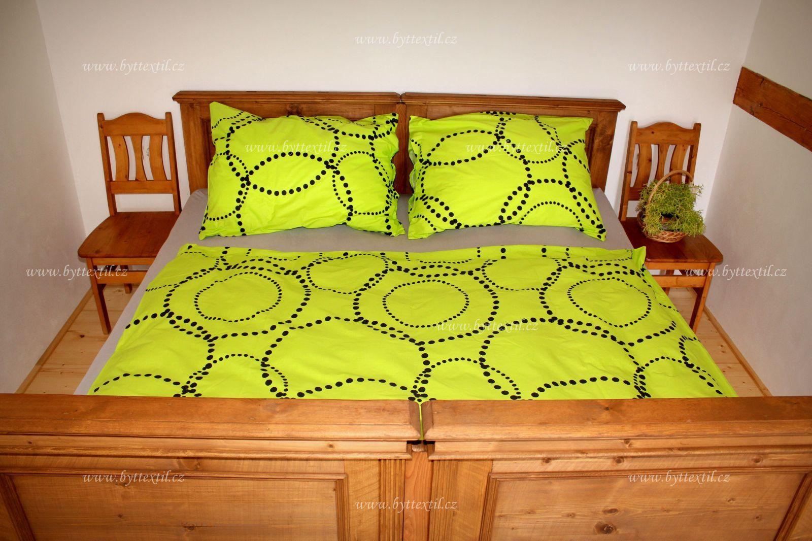 Kvalitné bavlnené obliečky zelenej farby Bronal
