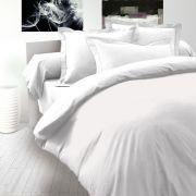 Saténové obliečky biele