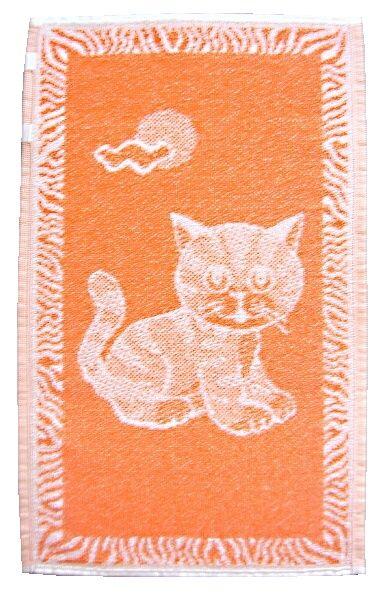 Detský uterák oranžový s motívom mačiatka Frotex