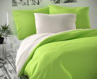 Zeleno biele saténové obliečky
