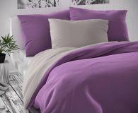 Šedo fialové saténové obliečky