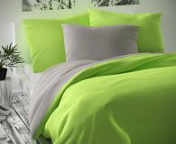 Šedo zelené saténové obliečky