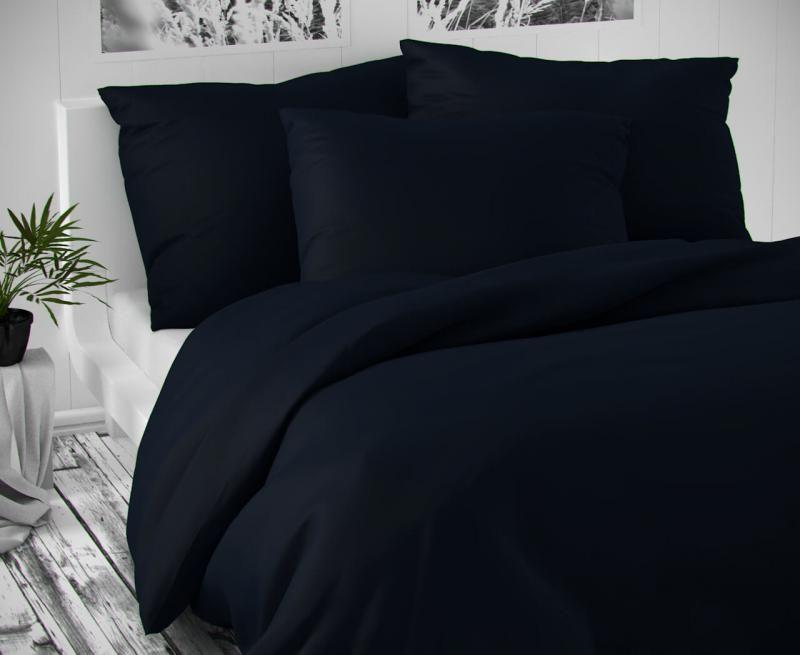 Saténové obliečky tmavo modré luxusné Kvalitex