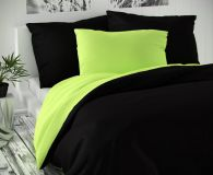 Saténové obliečky zeleno čierne