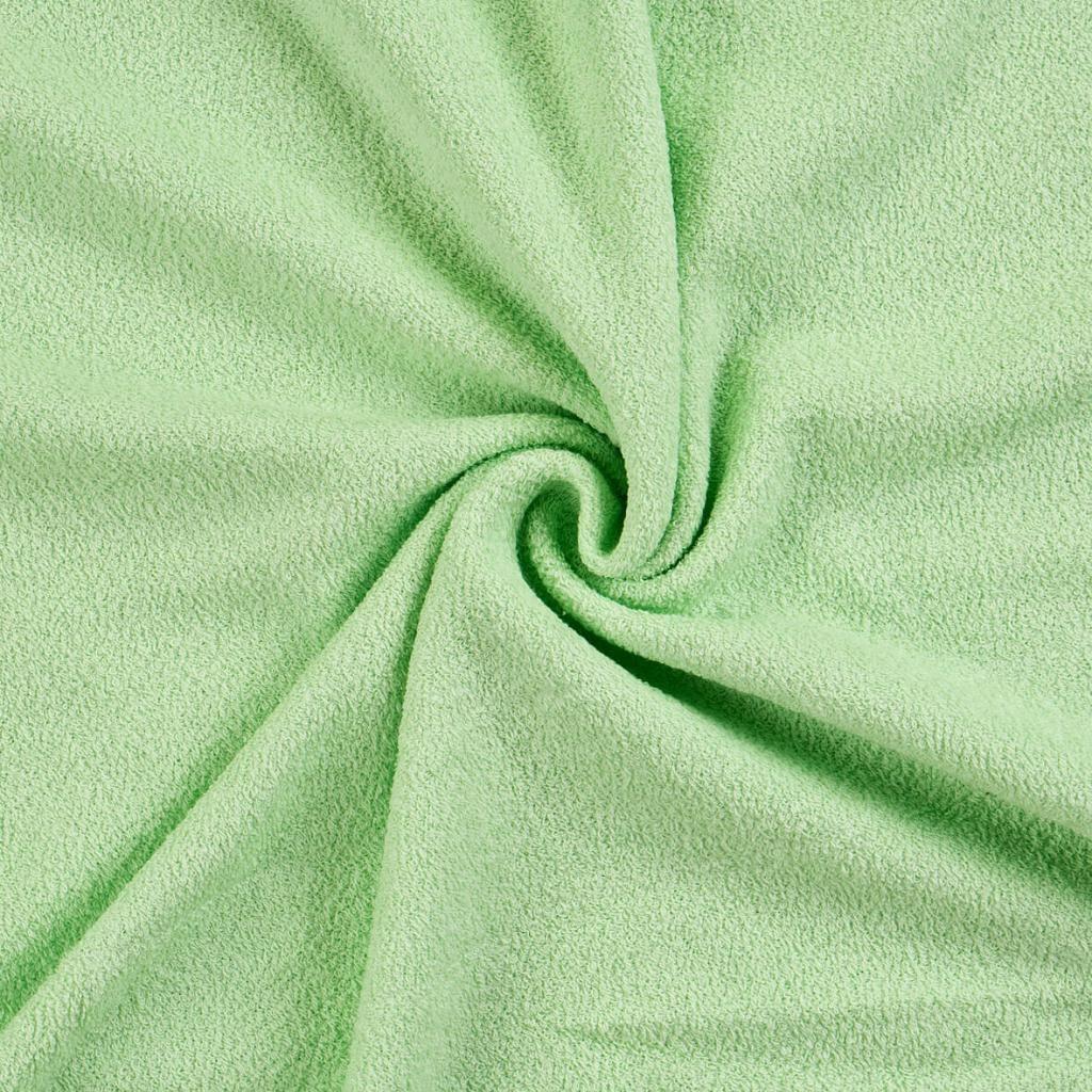 Kvalitná napínacia froté plachta vo svetlo zelenej farbe Kvalitex