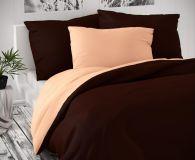 Saténové luxusné obliečky tmavo hnedo-lososové Kvalitex