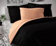 Saténové luxusné obliečky čierno-lososové Kvalitex