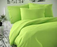 Saténové obliečky zelené luxusné Kvalitex