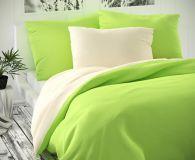 Saténové obliečky zeleno - smotanové luxusné Kvalitex