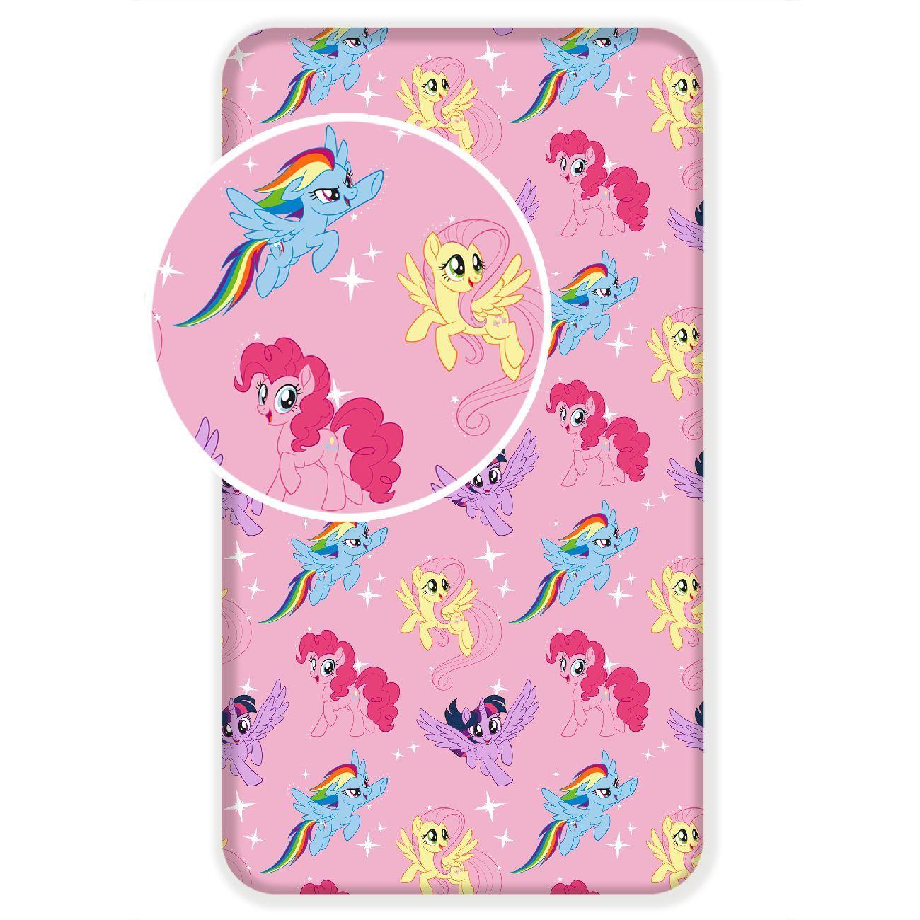 Detské prestieradlo ružové My Little Pony Jerry Fabrics
