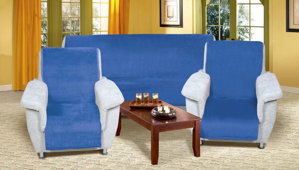 Modrý prehoz na sedaciu súpravu Micro 3+1+1