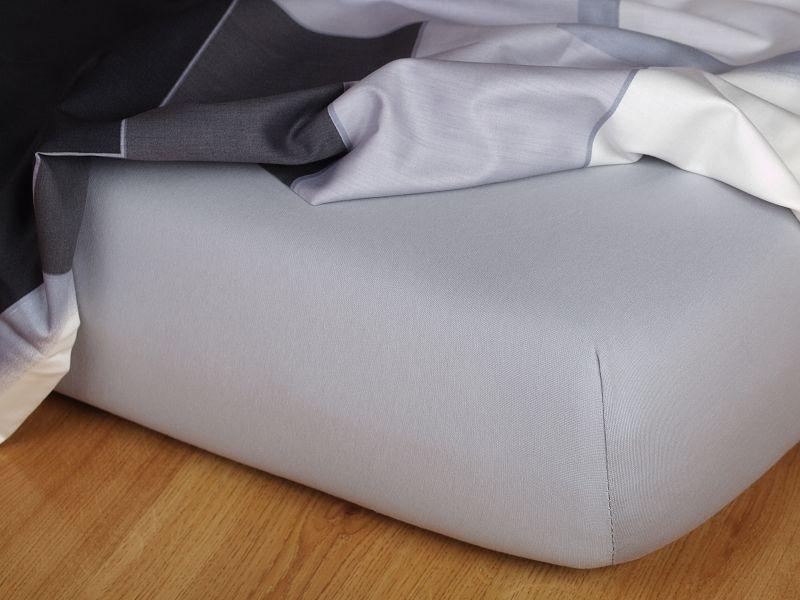 Jersey plachta šedá 90x200x15 cm Dadka