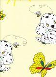 Obliečky krep do postieľky Psík s motýľom žlté