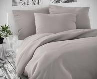 Saténové obliečky svetlo šedé luxusné Kvalitex