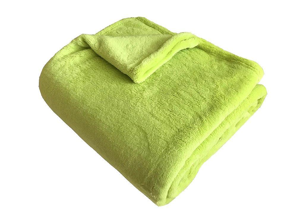 Hrejivá super soft deka pistáciovej farby Dadka