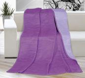 Deka jednofarebná 150x200cm fialová/svetlo fialová