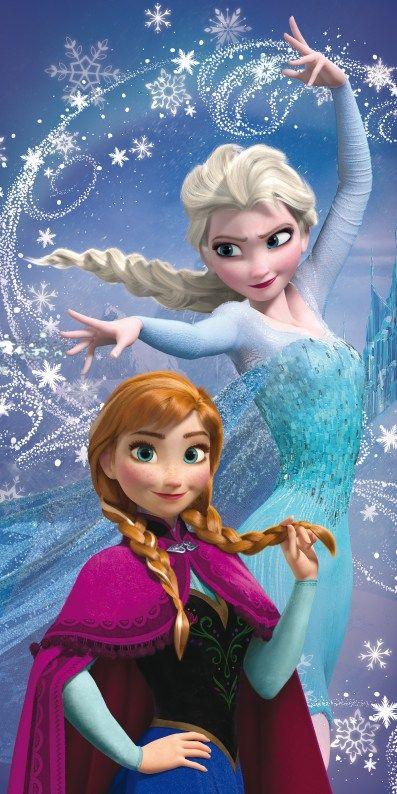 Osuška pre dievčatká Anna a Elza, Frozen Jerry Fabrics