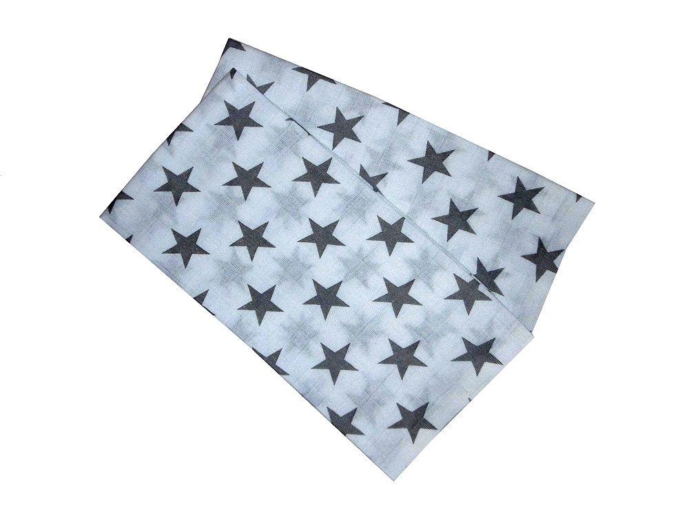 Pekná šedá plienka pre deti s motívom hviezd PREM INTERNACIONAL