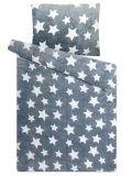 Obliečky mikroflanel Hviezdy šedé