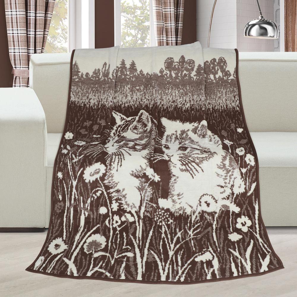 Hrejivá deka so vzorom mačiatok