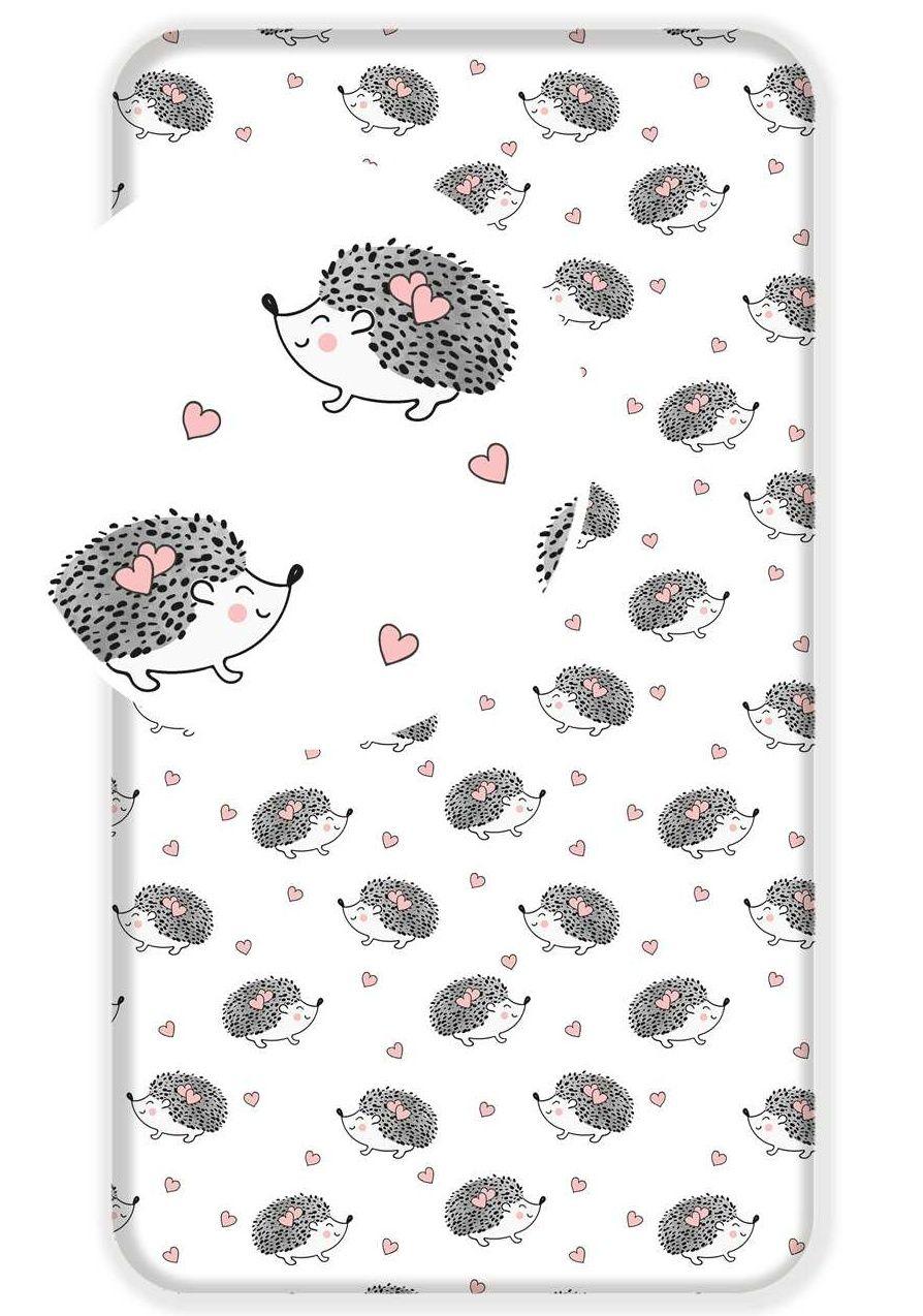 Pekná bavlnená plachta pre deti s motívom ježkov Jerry Fabrics