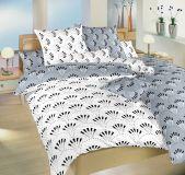 Kvalitné obojstranné bavlnené posteľné obliečky Gabru biely/šedý DUO Dadka