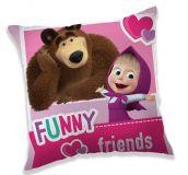 Pekný vankúšik pre deti Máša a medveď Jerry Fabrics