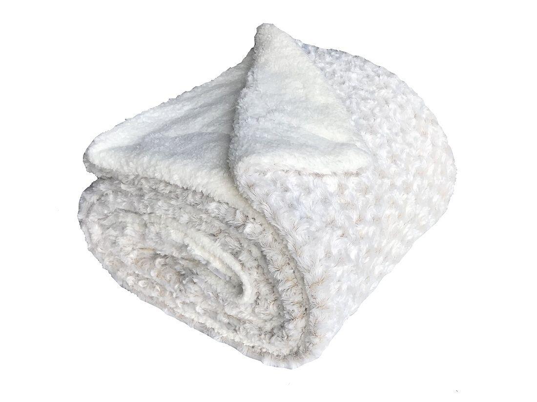 Pekná deka z mikrovlákna Ovečka v smotanovej farbe Jerry Fabrics