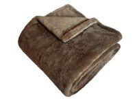 Hrejivá super soft deka stedne hnedej farby   150/200, 150/100